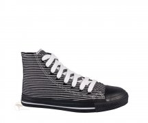 Ethletic Sneaker High Cut Pinstripes / Jet Black
