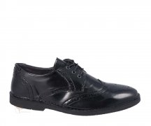 Wills London 3 Eye Brogues Black