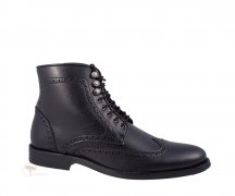 Wills London Brogue Boots Black