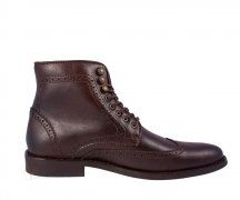 Wills London Brogue Boots Dark Brown