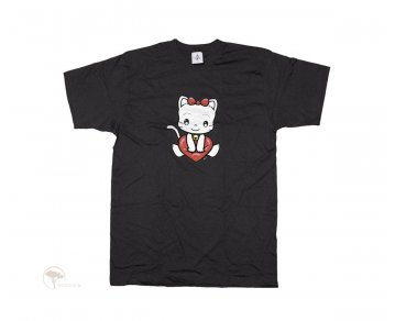 Kinder T-Shirt Kitty Heart