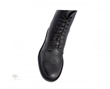 Shoezuu 9 Eye Brogue Boot Black