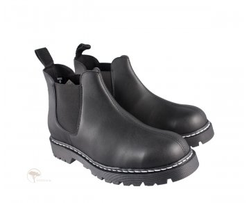Shoezuu Chelsea Stitch Boot Black