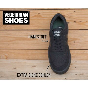 Vegetarian Shoes Veg Supreme Hemp Lo Black 39
