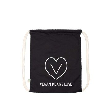 Gym Bag Vegan Means Love