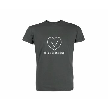 T-Shirt Vegan Means Love