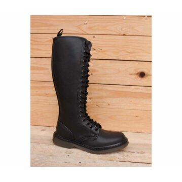 Shoezuu 20 Eye Zip UK Boot Black