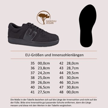 Vegetarian Shoes Veg Supreme Hemp Lo Black 42