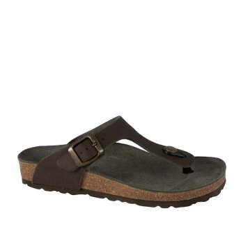 Vegetarian Shoes Toe Post Sandal Brown 37