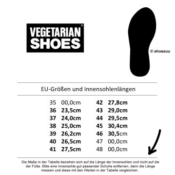 Vegetarian Shoes Kennedy Shoe Black 46
