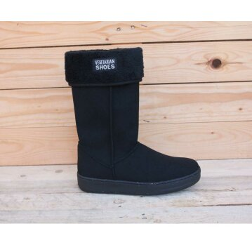 Vegetarian Shoes Highly Snugge Boot Black