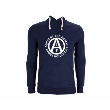Hoodie Animal Liberation Front navy