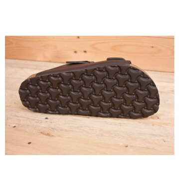 Vegetarian Shoes Two Strap Sandal Brown