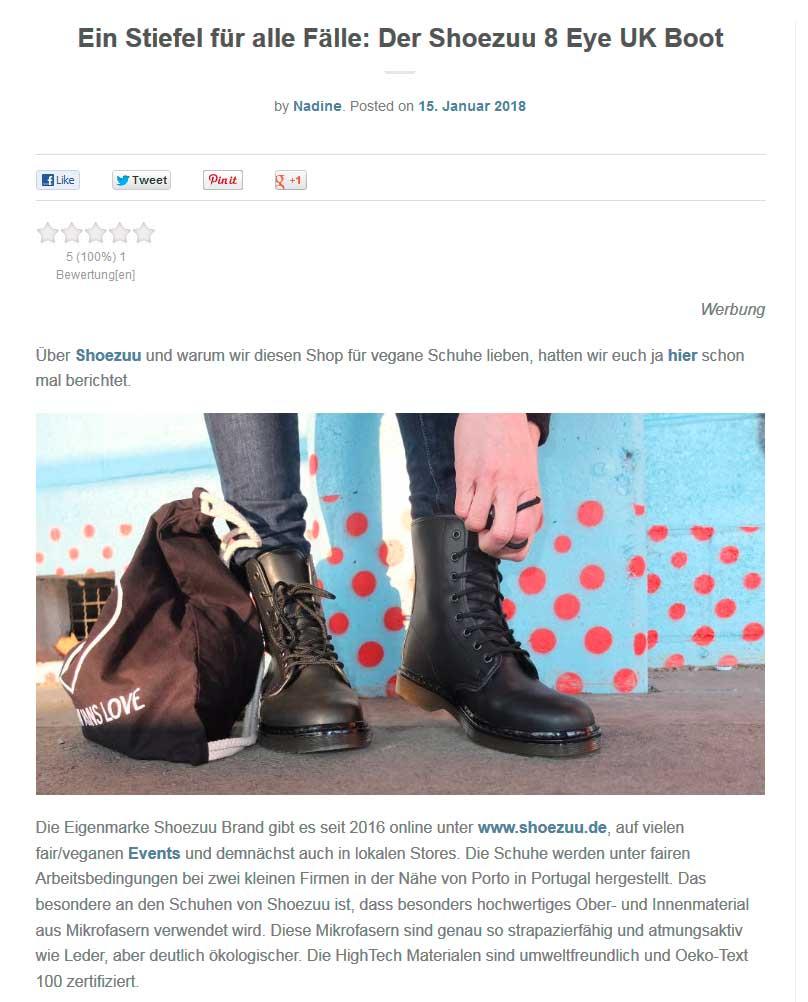 Vegane Boots von Shoezuu Brand